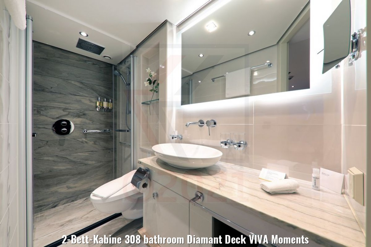 2-Bett-Kabine 308 bathroom Diamant Deck VIVA Moments