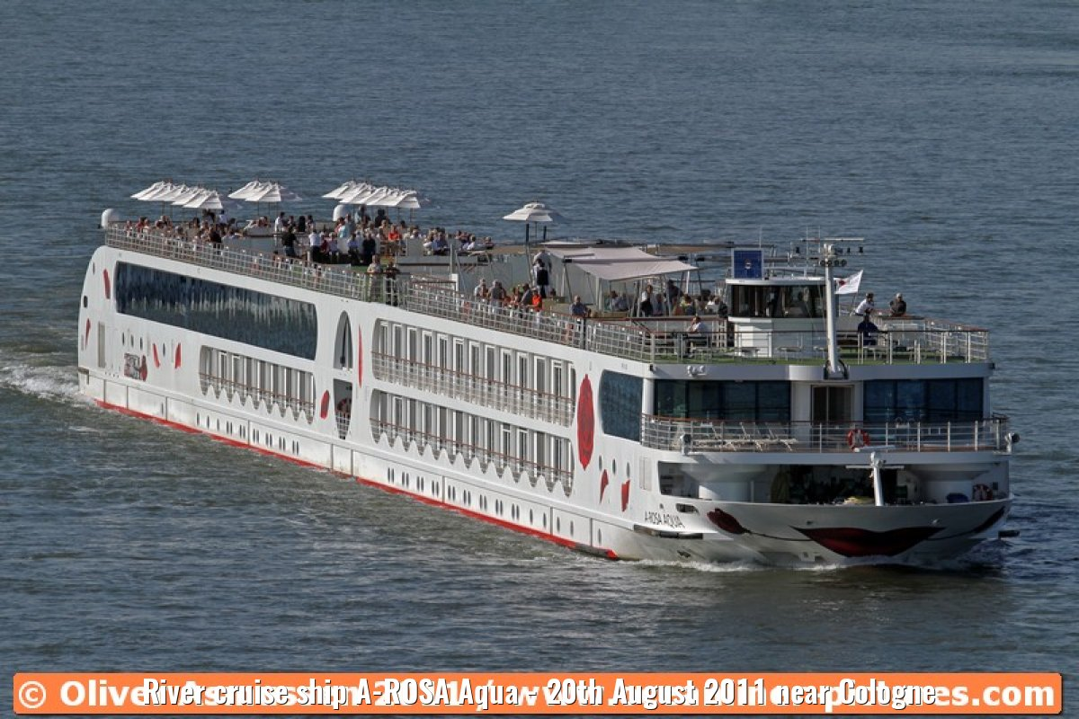 River cruise ship A-ROSA Aqua - 20th August 2011 near Cologne
