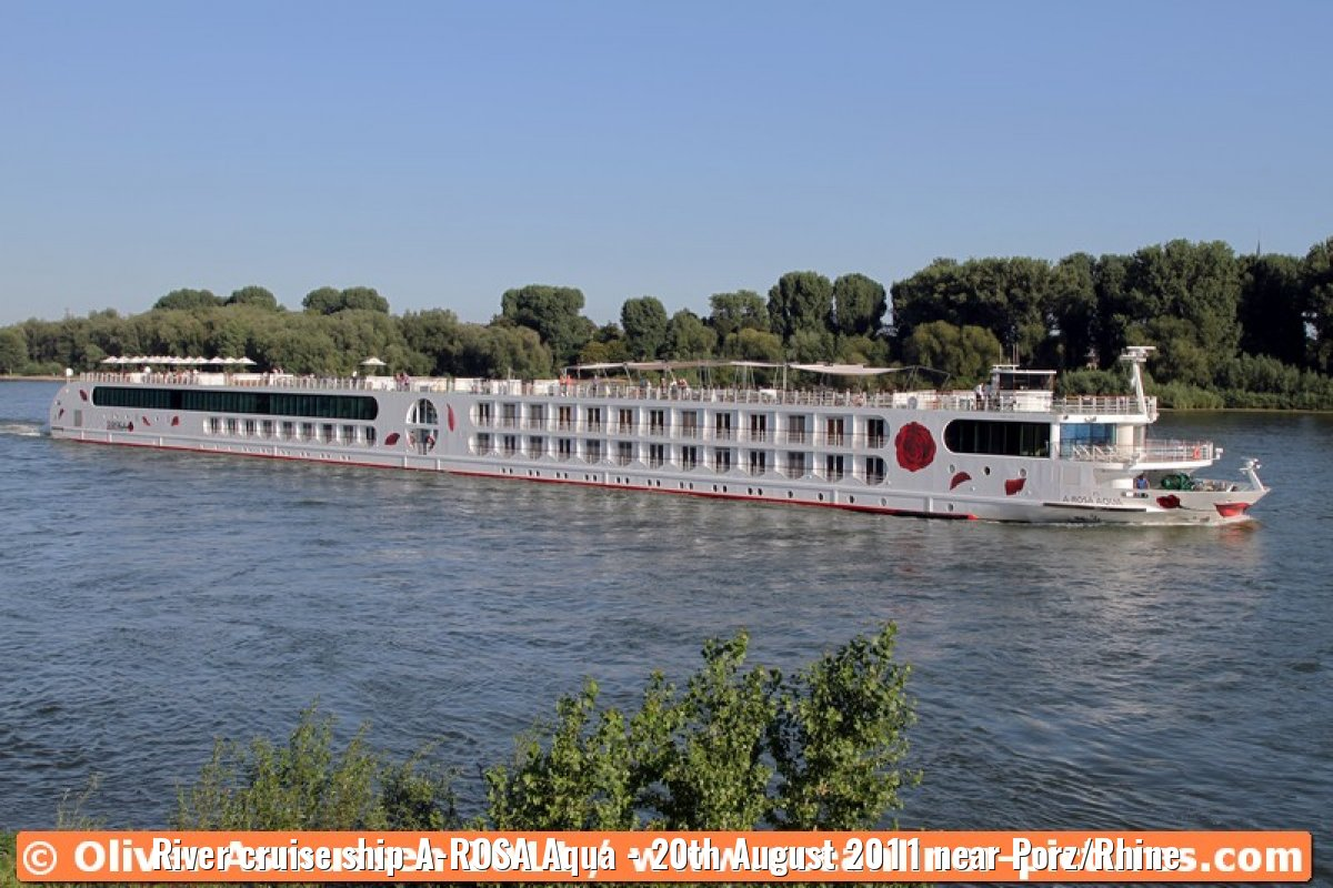 River cruise ship A-ROSA Aqua - 20th August 2011 near Porz/Rhine