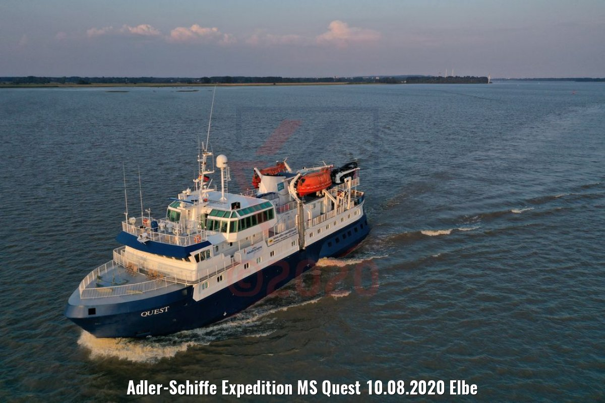 Adler-Schiffe Expedition MS Quest 10.08.2020 Elbe