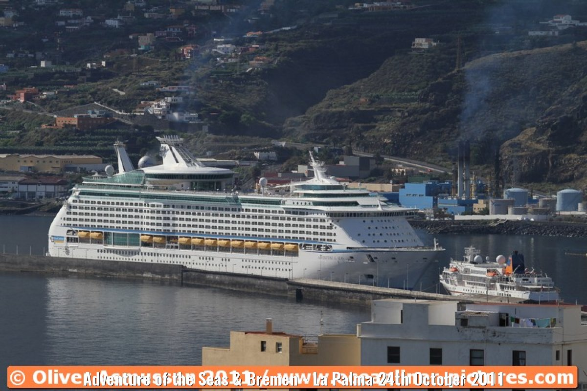 Adventure of the Seas & Bremen - La Palma 24th October 2011