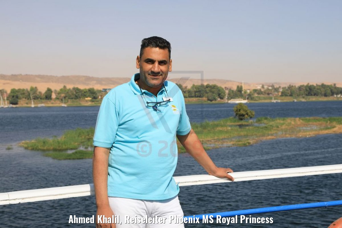 Ahmed Khalil, Reiseleiter Phoenix MS Royal Princess