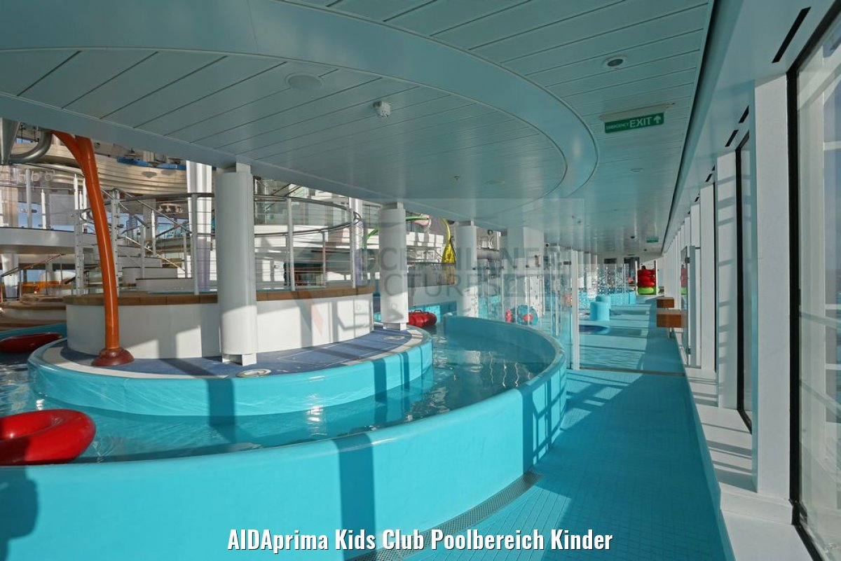 AIDAprima Kids Club Poolbereich Kinder