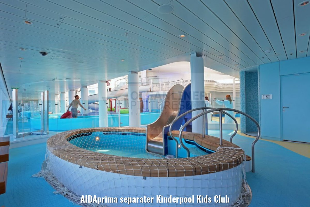 AIDAprima separater Kinderpool Kids Club