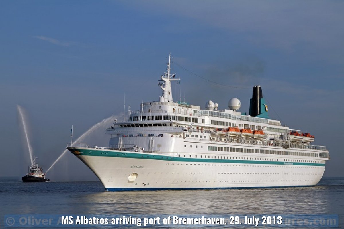 MS Albatros arriving port of Bremerhaven, 29. July 2013