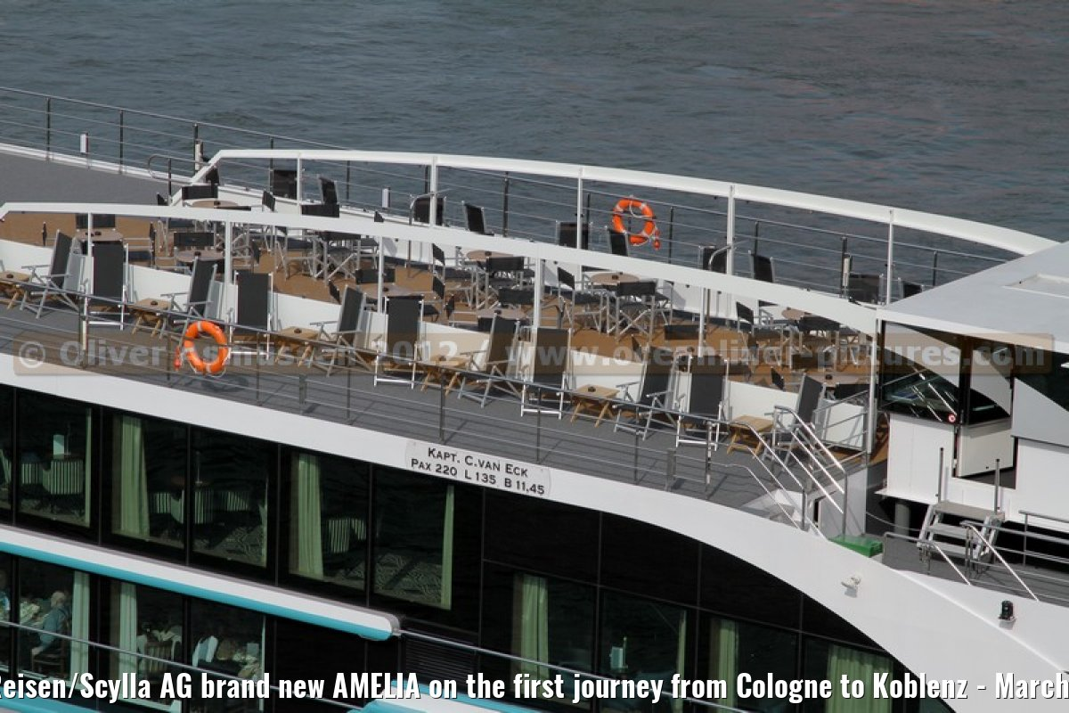 Phoenix Reisen/Scylla AG brand new AMELIA on the first journey from Cologne to Koblenz - March 28, 2012