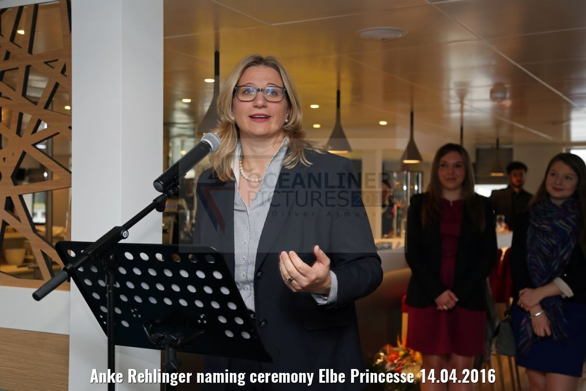 Anke Rehlinger naming ceremony Elbe Princesse 14.04.2016