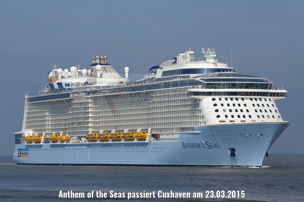 Anthem of the Seas passiert Cuxhaven am 23.03.2015