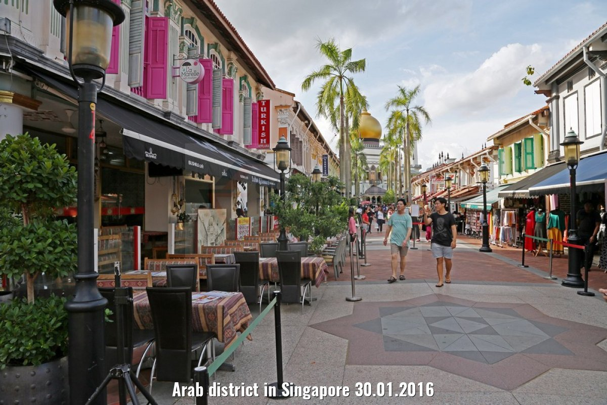 Arab district in Singapore 30.01.2016