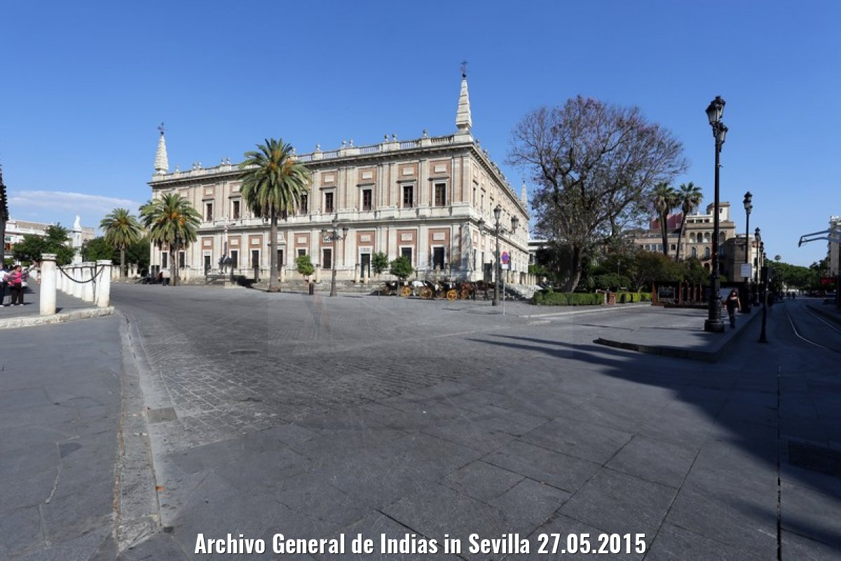 Archivo General de Indias in Sevilla 27.05.2015