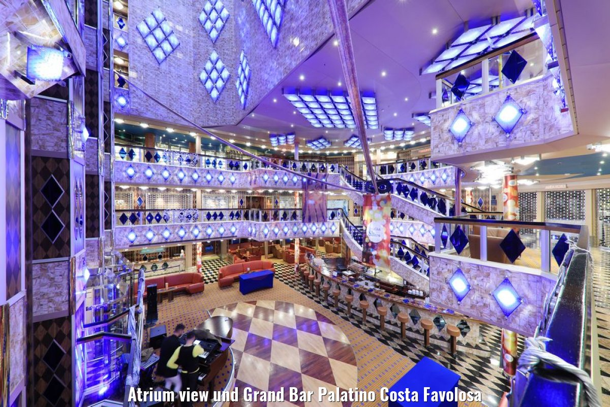 Atrium view und Grand Bar Palatino Costa Favolosa