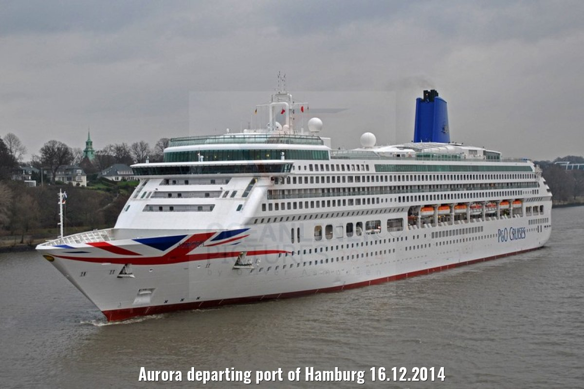 Aurora departing port of Hamburg 16.12.2014