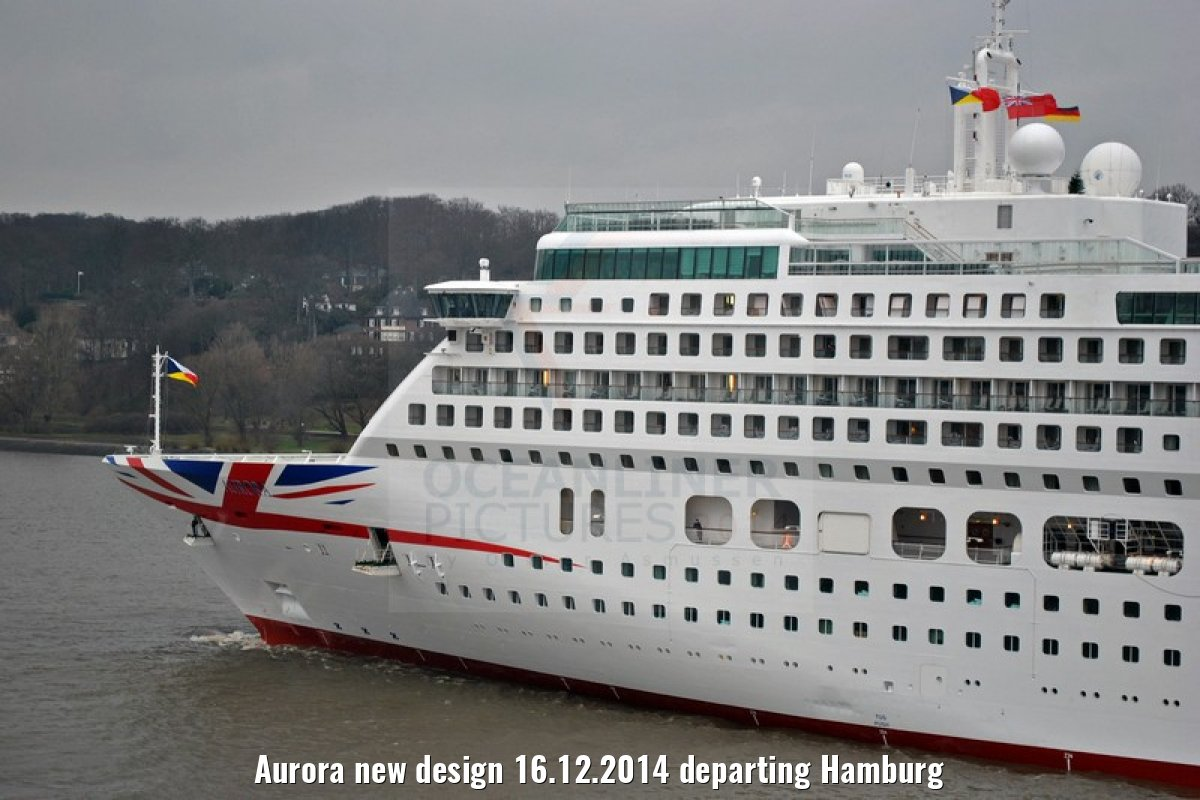 Aurora new design 16.12.2014 departing Hamburg