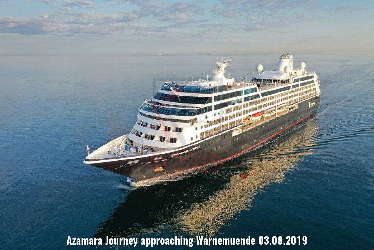 Azamara Journey approaching Warnemuende 03.08.2019