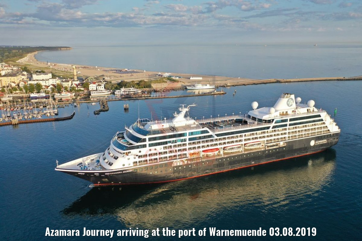 Azamara Journey arriving at the port of Warnemuende 03.08.2019