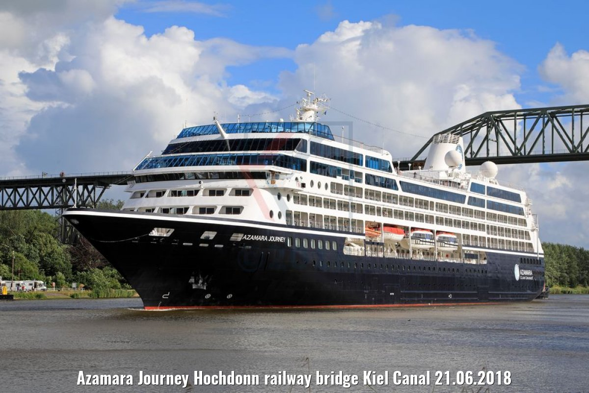 Azamara Journey Hochdonn railway bridge Kiel Canal 21.06.2018