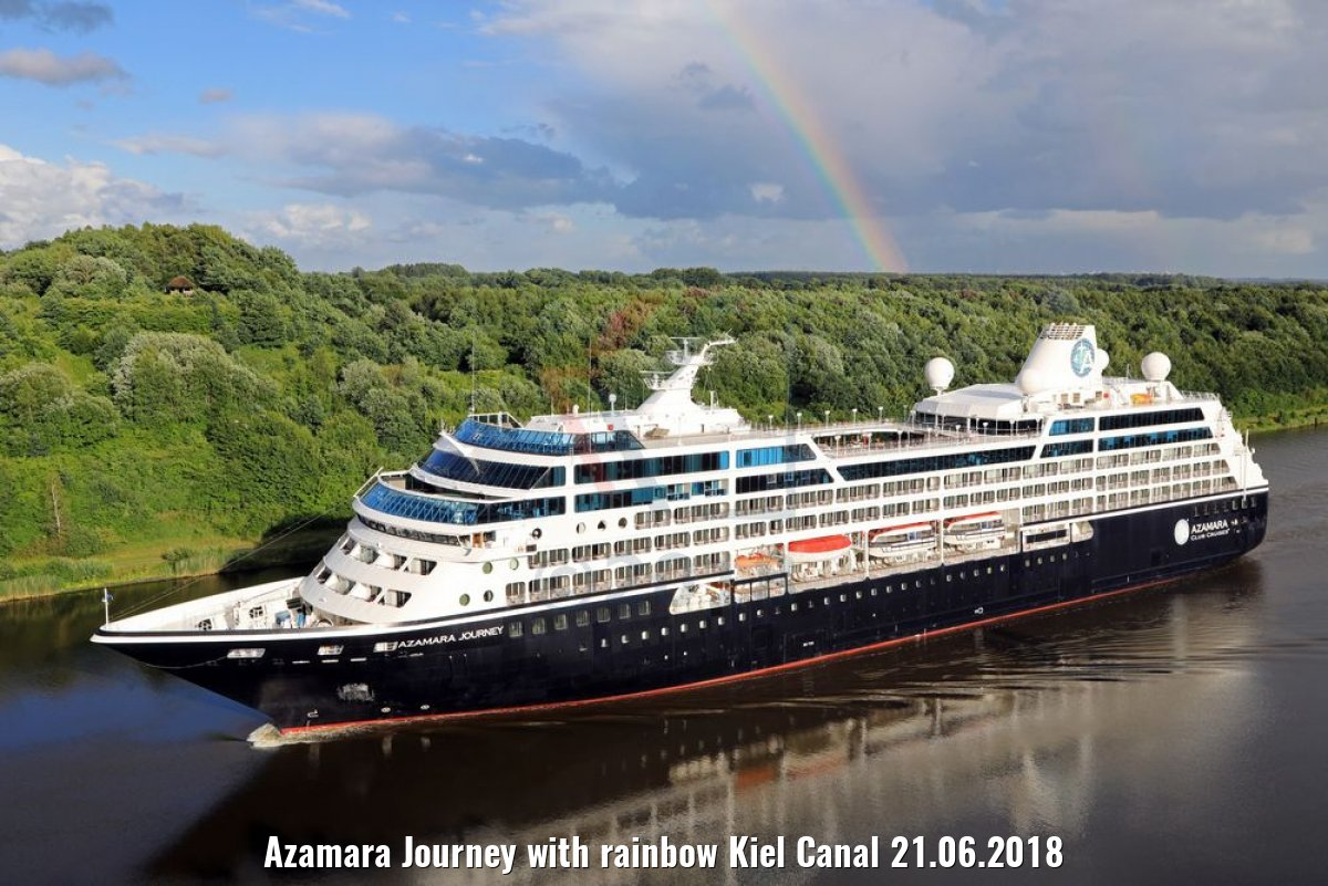 Azamara Journey with rainbow Kiel Canal 21.06.2018