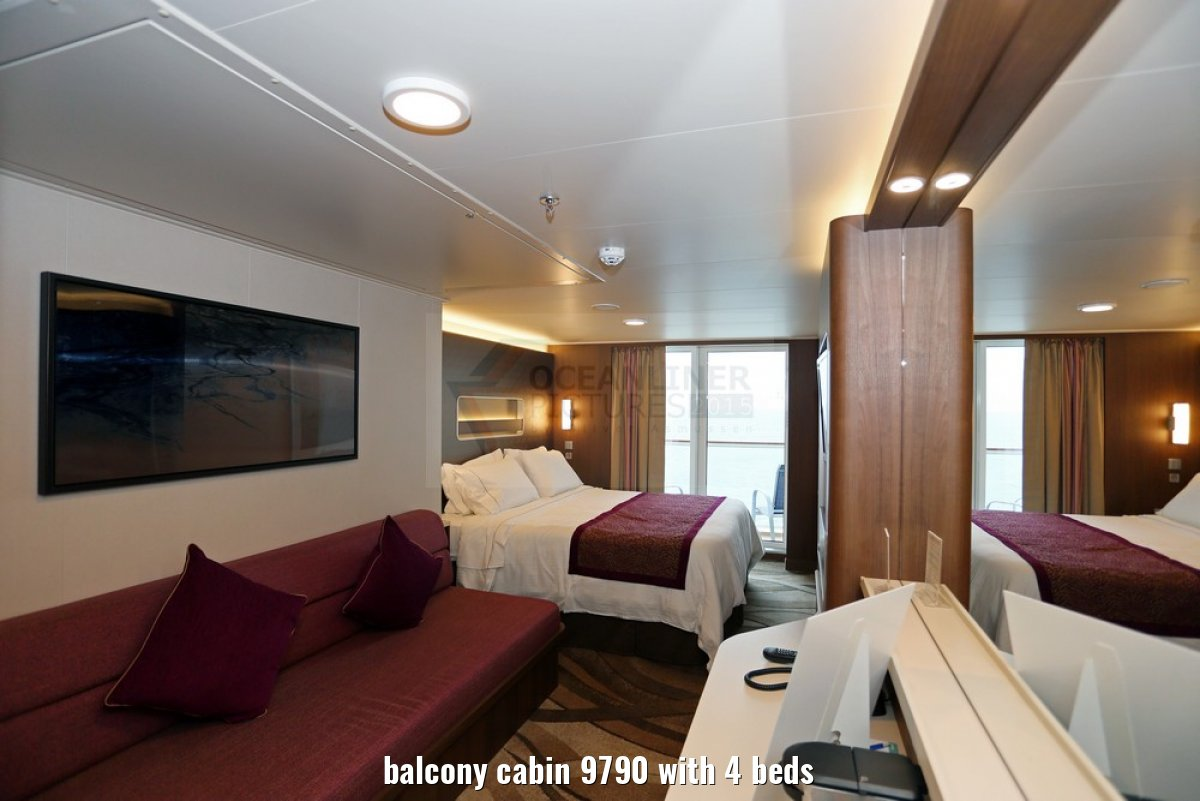 balcony cabin 9790 with 4 beds