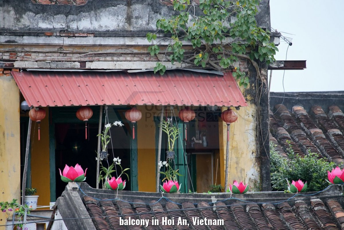 balcony in Hoi An, Vietnam