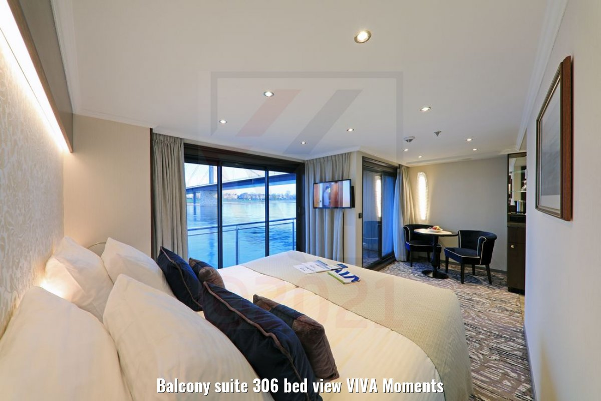 Balcony suite 306 bed view VIVA Moments