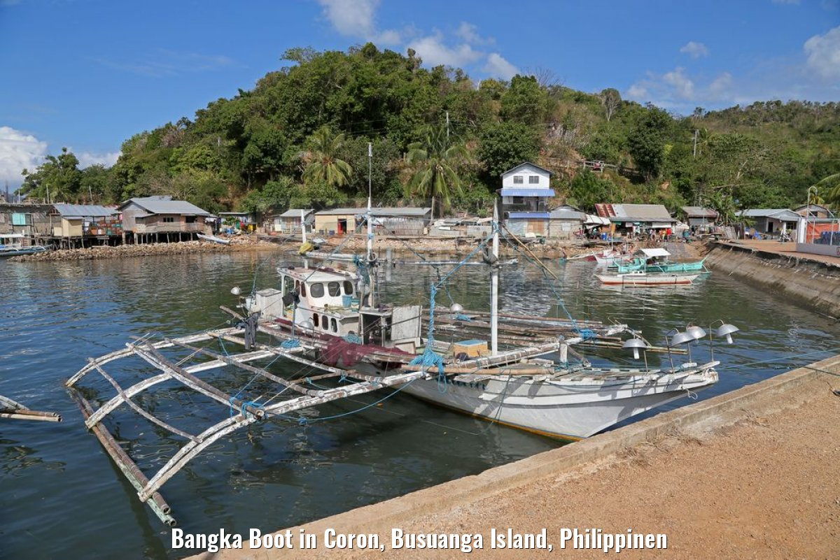 Bangka Boot in Coron, Busuanga Island, Philippinen