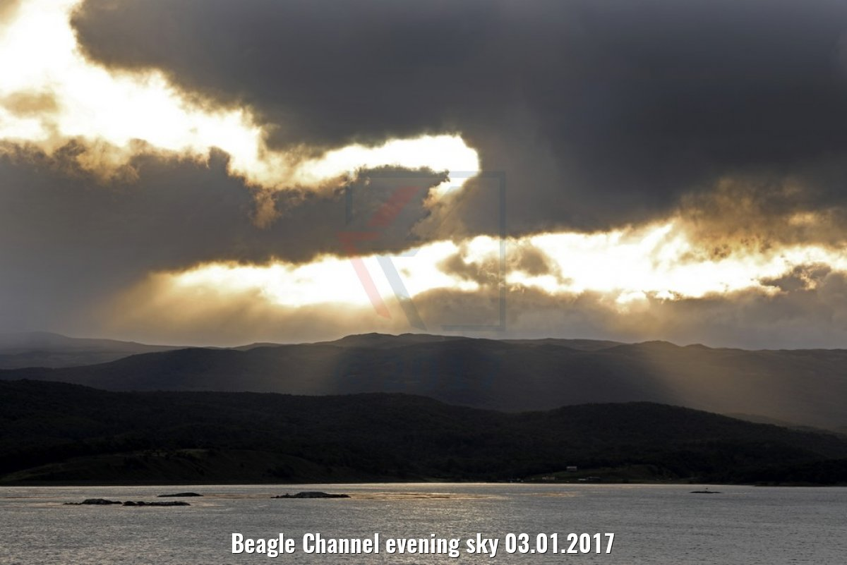 Beagle Channel evening sky 03.01.2017