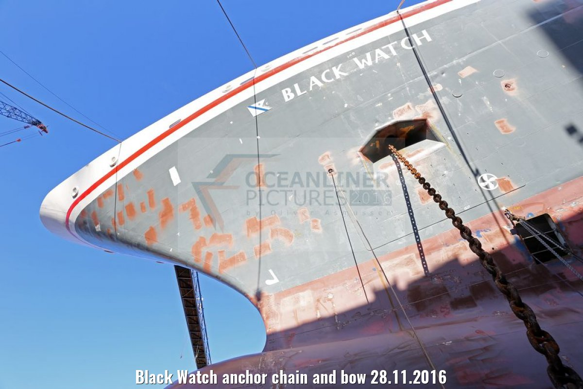 Black Watch anchor chain and bow 28.11.2016