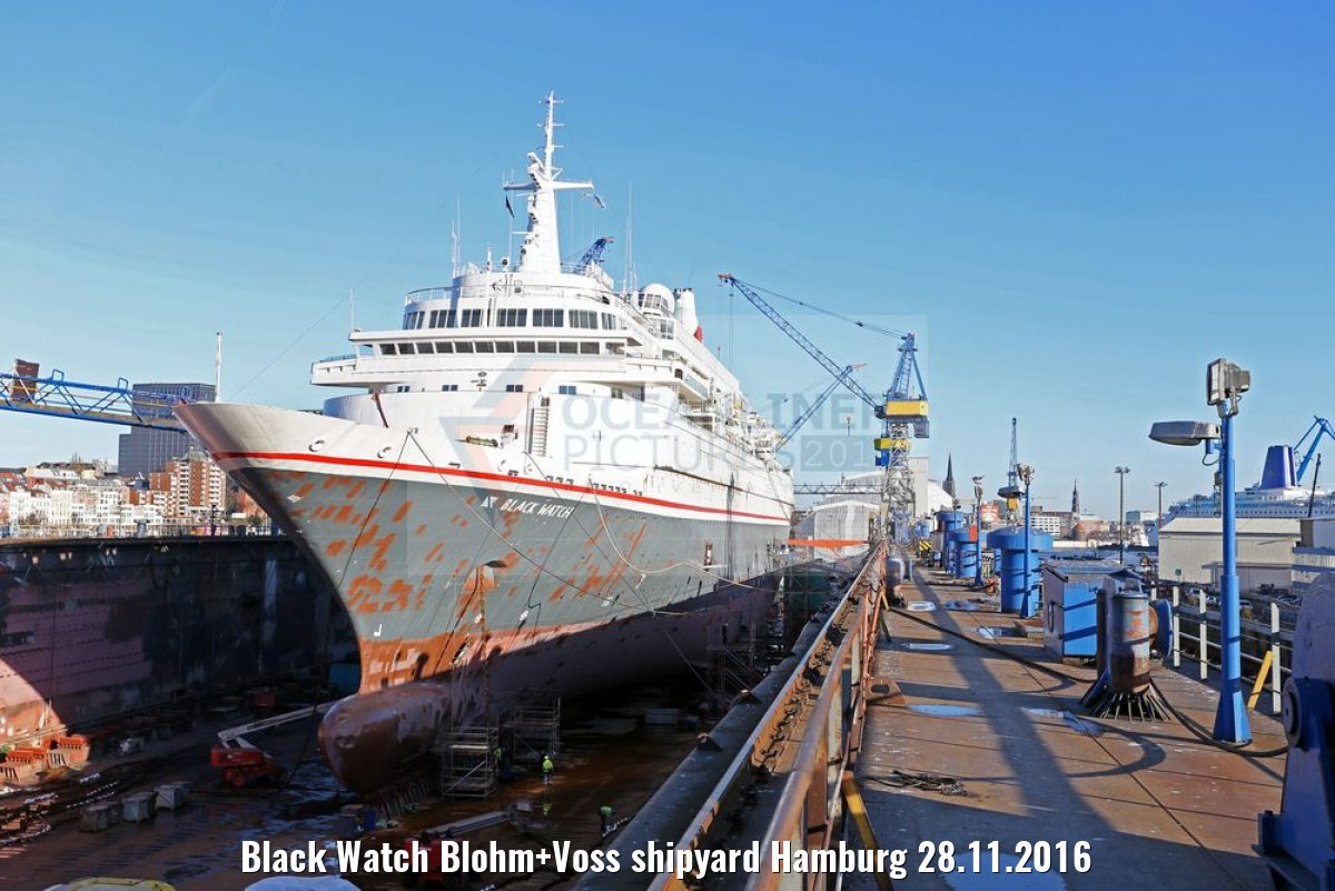 Black Watch Blohm+Voss shipyard Hamburg 28.11.2016