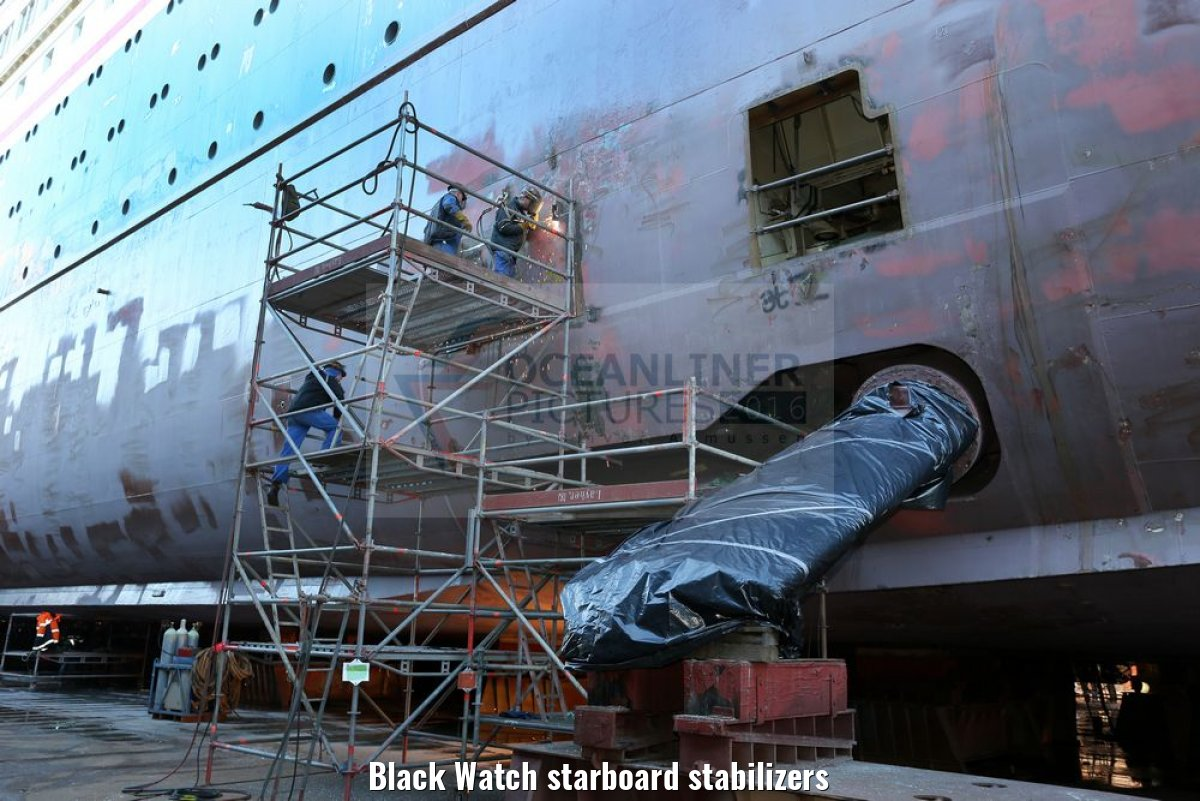Black Watch starboard stabilizers