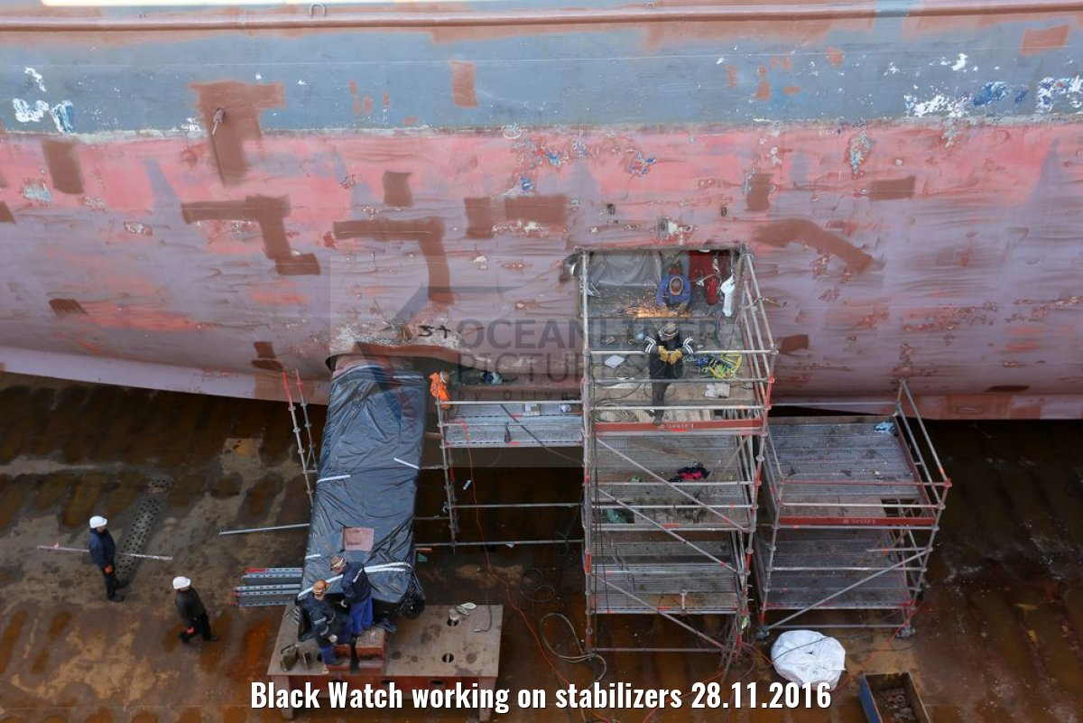Black Watch working on stabilizers 28.11.2016