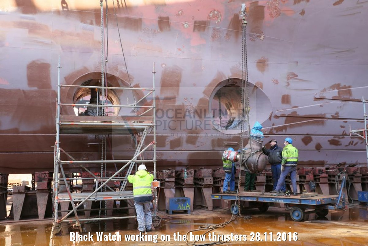 Black Watch working on the bow thrusters 28.11.2016