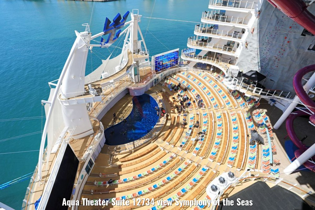 Aqua Theater Suite 12734 view Symphony of the Seas