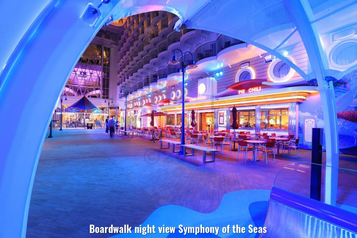Boardwalk night view Symphony of the Seas