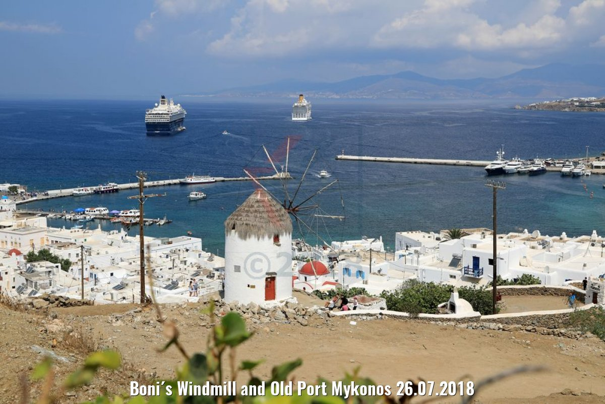 Boni´s Windmill and Old Port Mykonos 26.07.2018
