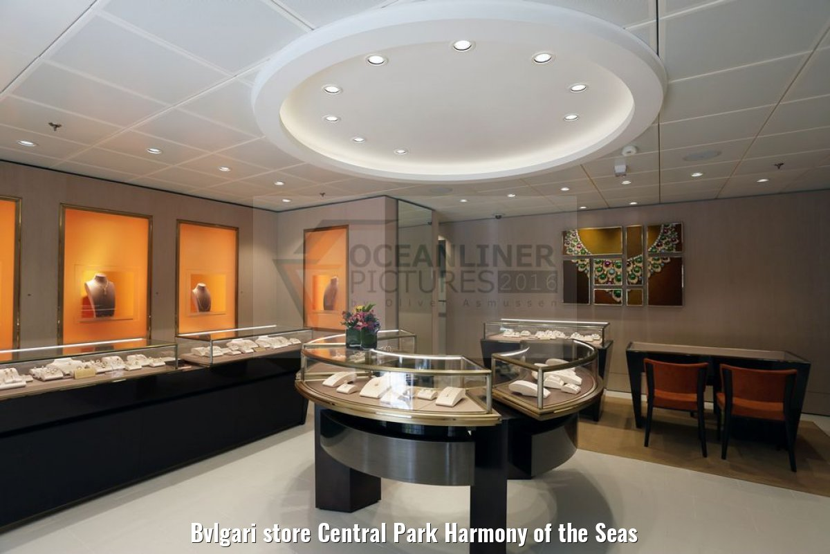 Bvlgari store Central Park Harmony of the Seas