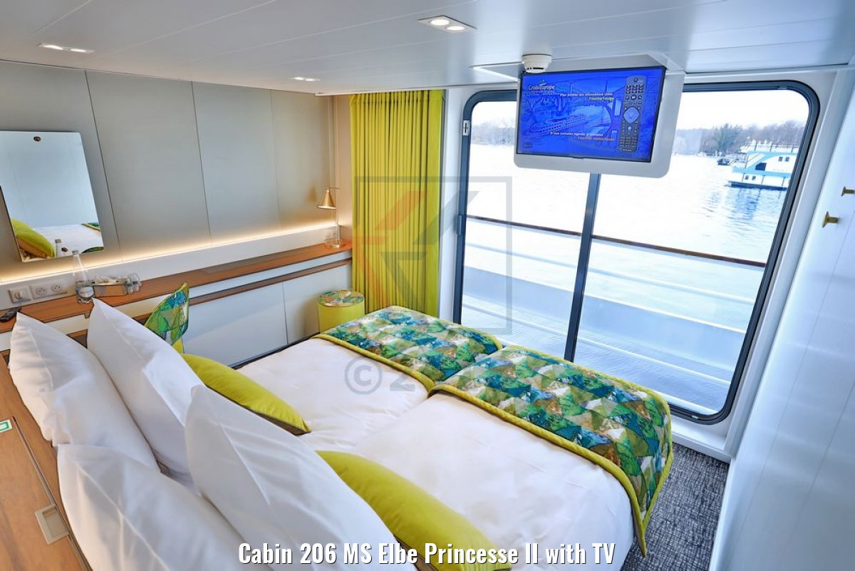 Cabin 206 MS Elbe Princesse II with TV