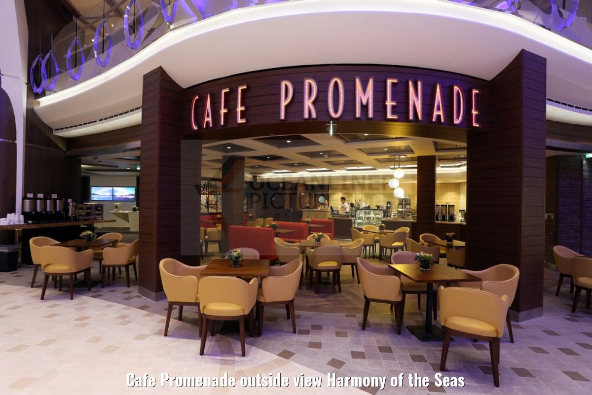 Cafe Promenade outside view Harmony of the Seas