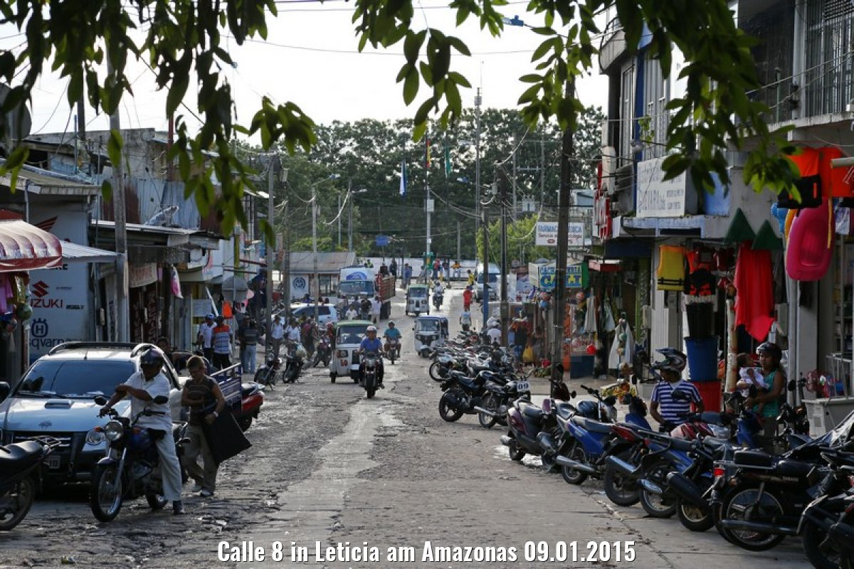 Calle 8 in Leticia am Amazonas 09.01.2015