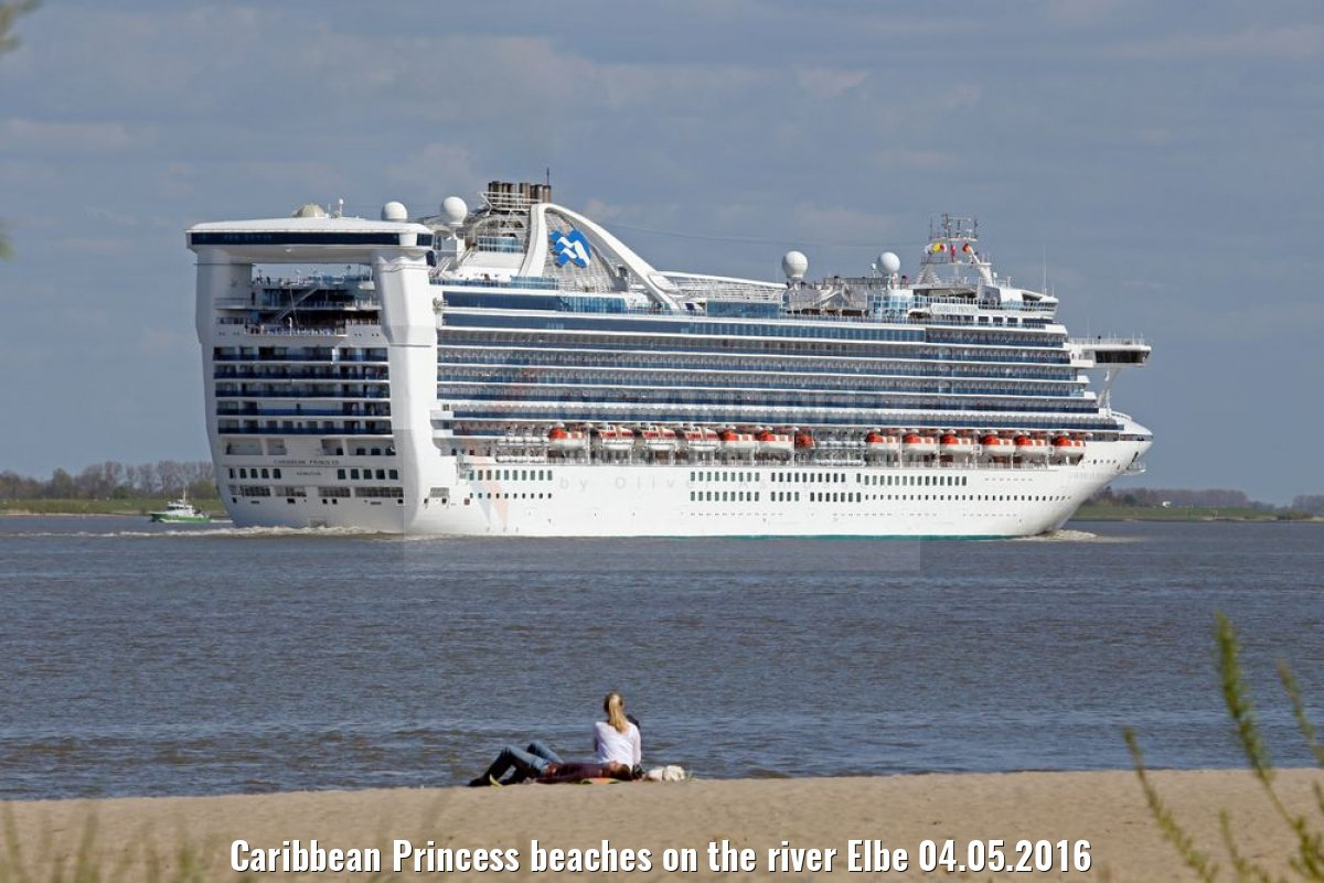 Caribbean Princess beaches on the river Elbe 04.05.2016