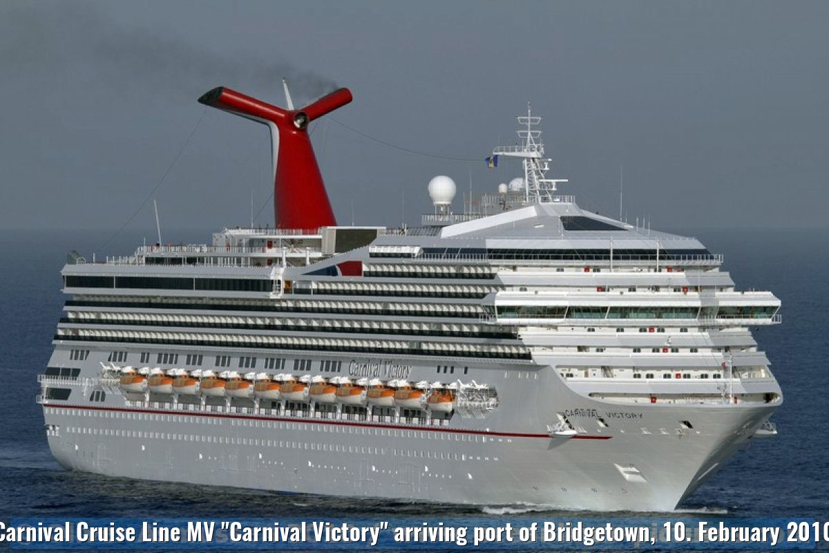 "Carnival Cruise Line MV ""Carnival Victory"" arriving port of Bridgetown, 10. February 2010"
