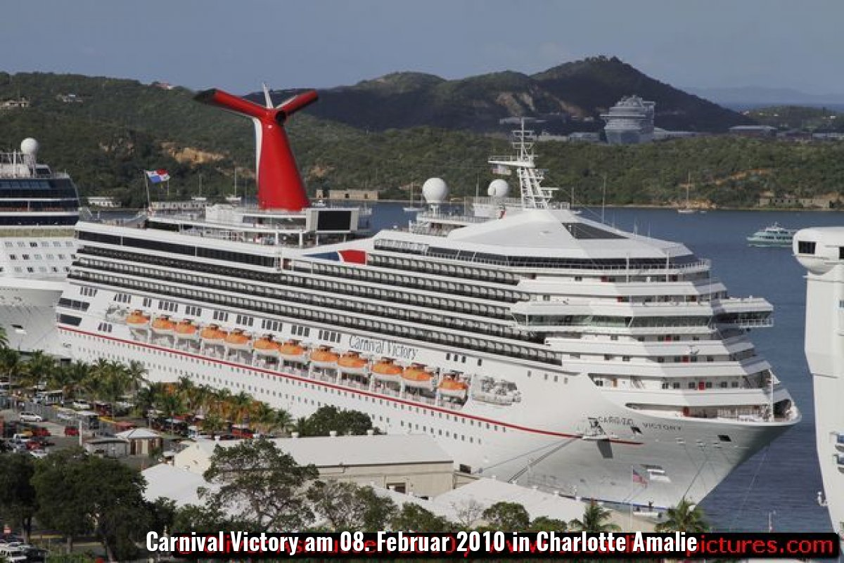 Carnival Victory am 08. Februar 2010 in Charlotte Amalie