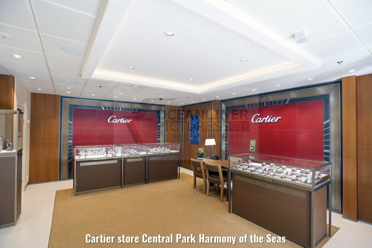Cartier store Central Park Harmony of the Seas