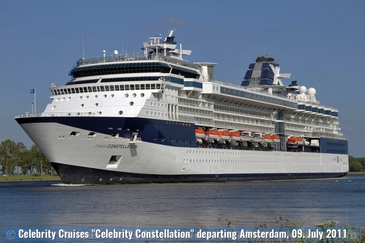 "Celebrity Cruises ""Celebrity Constellation"" departing Amsterdam, 09. July 2011"