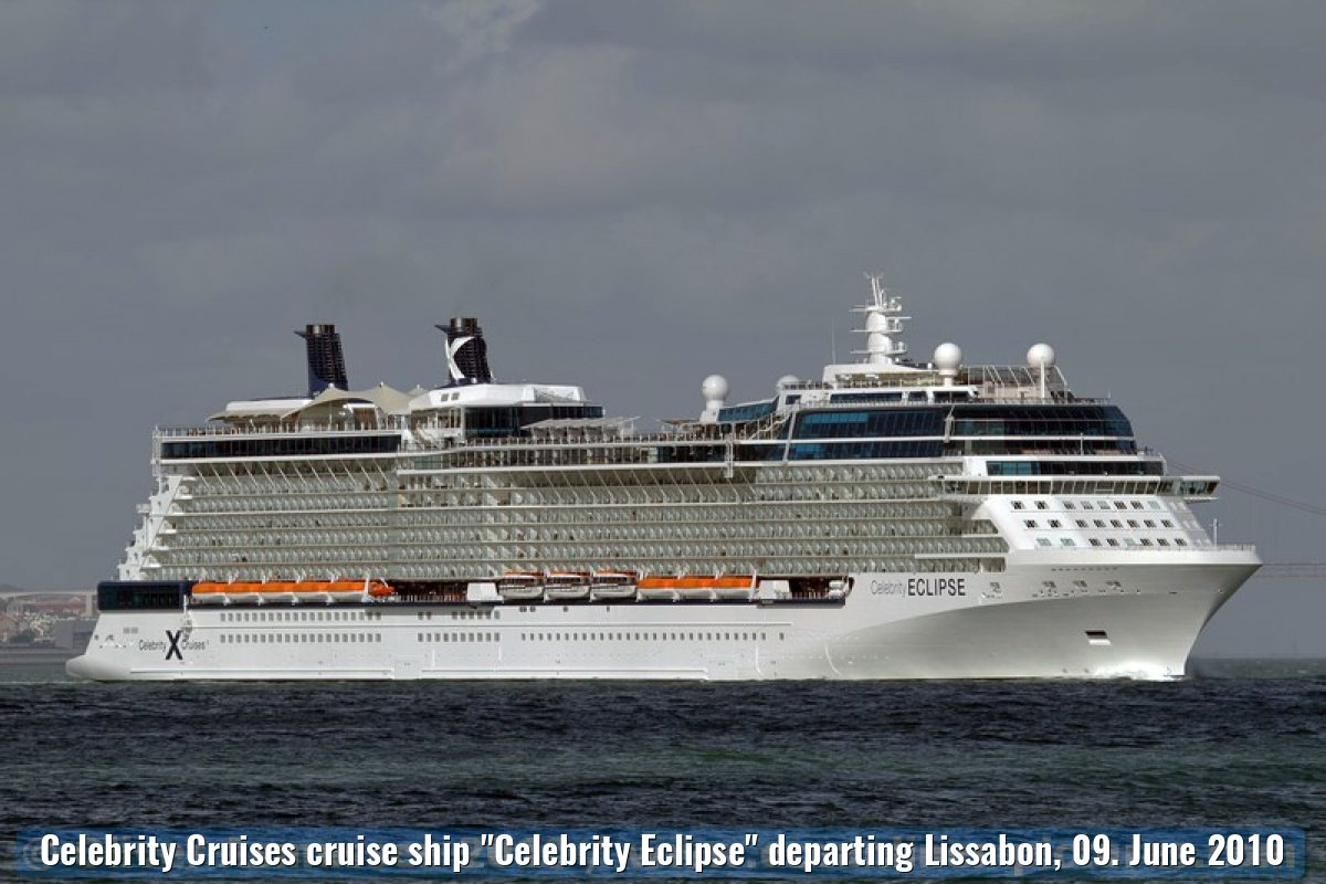 "Celebrity Cruises cruise ship ""Celebrity Eclipse"" departing Lissabon, 09. June 2010"
