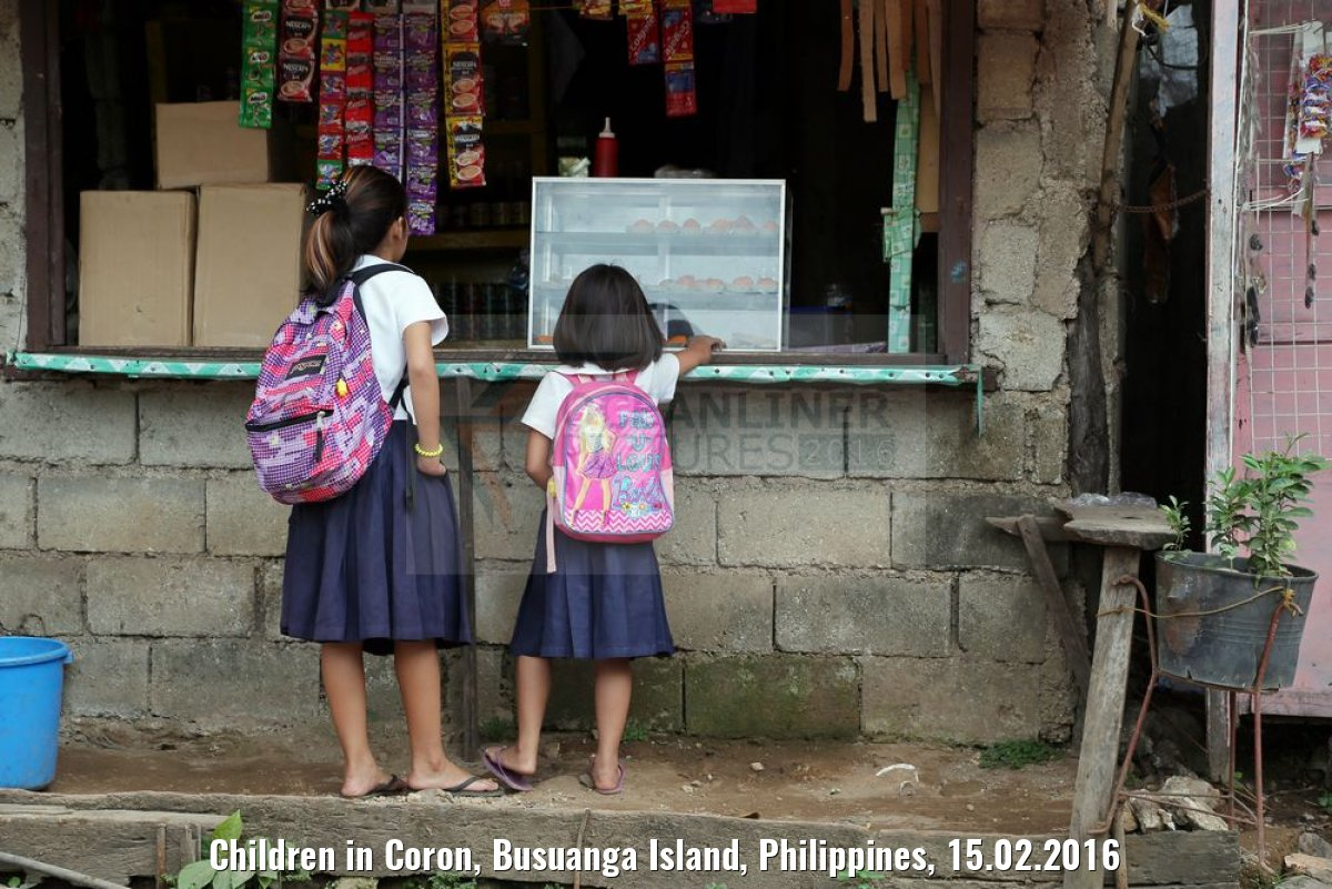 Children in Coron, Busuanga Island, Philippines, 15.02.2016