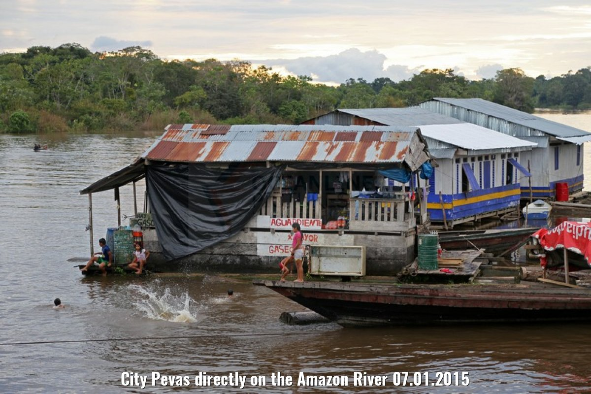 City Pevas directly on the Amazon River 07.01.2015
