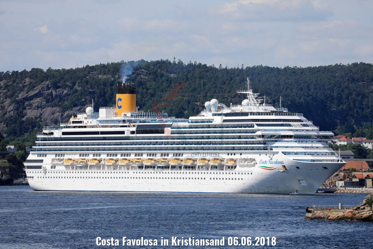 Costa Favolosa in Kristiansand 06.06.2018
