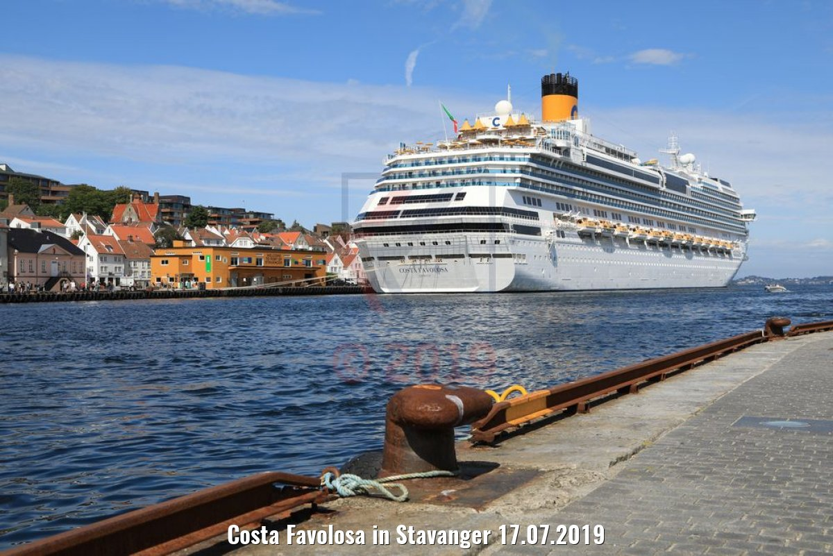 Costa Favolosa in Stavanger 17.07.2019