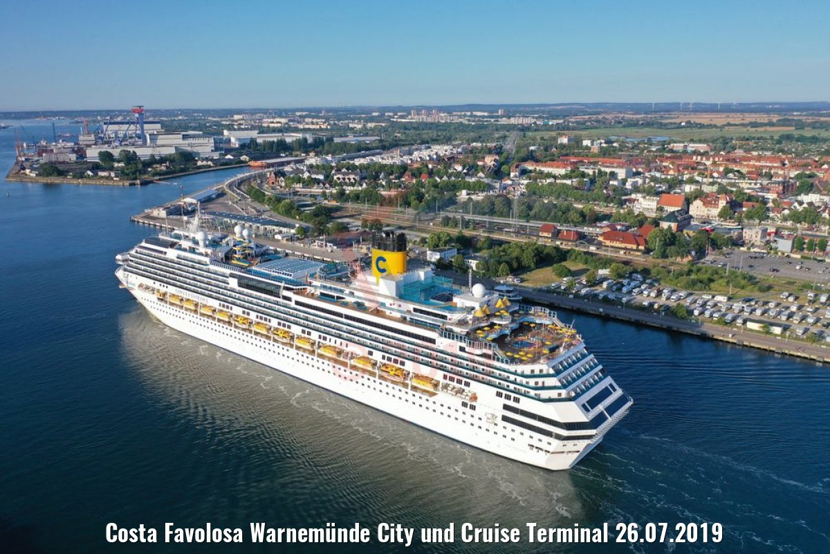 Costa Favolosa Warnemünde City und Cruise Terminal 26.07.2019