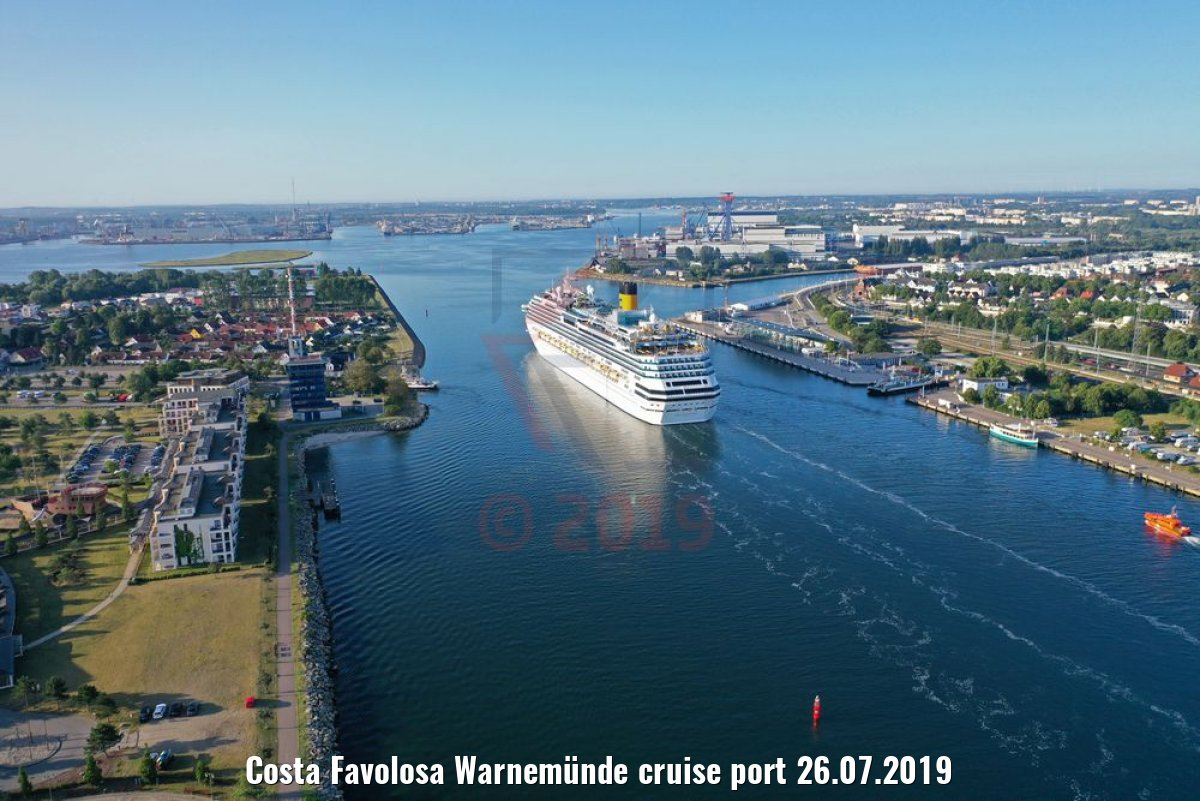 Costa Favolosa Warnemünde cruise port 26.07.2019
